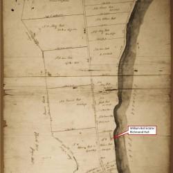 Manuscript survey of lands comprising the William Ball estate