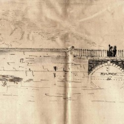 Sketch of the stone Richmond Street Bridge