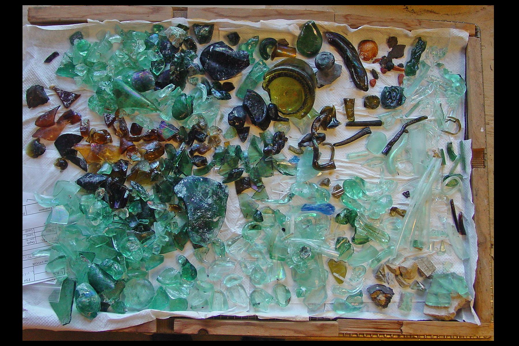 Dyottville glass debris