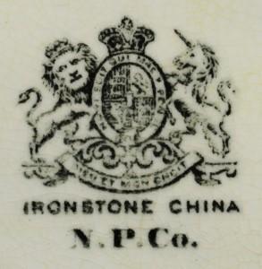 IRONSTONE CHINA / N. P. Co.