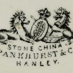 Pankhurst & Co., Hanley, England (1852–1882).  Butter dish (4A-C-0099).