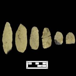 Cache of Argillite Bifacial Knives