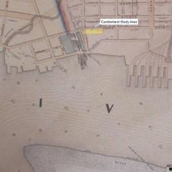 Figure 5. Study area vicinity in 1849 (Source: Sydney 1849)