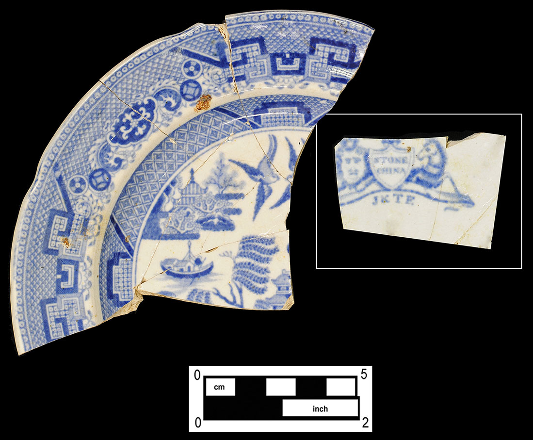 Fig.17 English Whiteware Transfer printed Plate