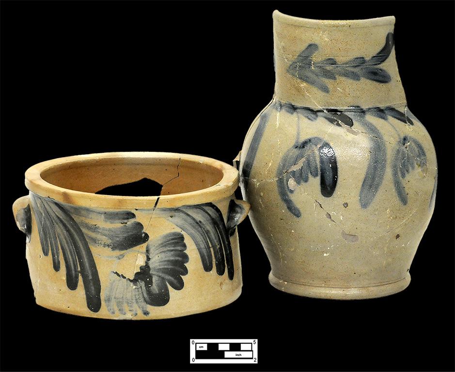 Fig. 18 Salt-Glazed Stoneware Cake Pot and Jug