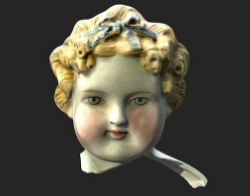 Dolly Madison-style doll head