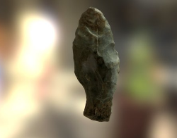 Straight stemmed chert projectile point, possible knife (FS# 6.7068.1)