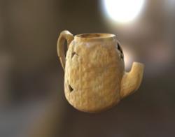 Yellow ware teapot (FS# 7.2703.1060)